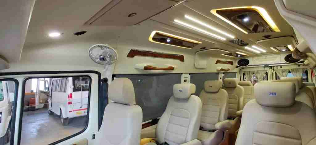 Spacious Tempo Travellers to hire from ghaziabad